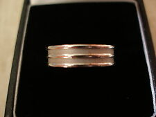 9 CARAT WHITE GOLD 5MM FLAT WEDDING / DRESS RING MADE BY B & N BRAND NEW IN BOX