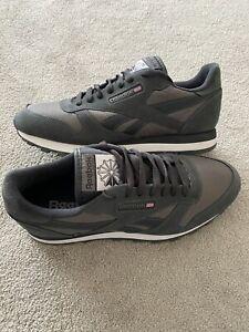 Brand New Reebok Running Mens Older Boys Trainers Shoes Grey UK Size 8 EU 42