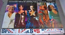 SPICE GIRLS RARE 2 PART SUBWAY CONCERT POSTER 19th & 20th SEPTEMBER 1998 WEMBLEY
