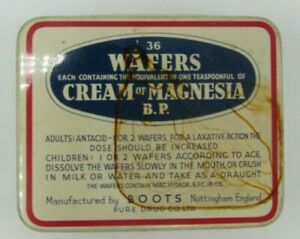 Vintage Boots Wafers with Cream of Magnesia Tin