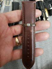 Genuine Leather Watch Band Watch Strap Wristwatch Belt Pin Buckle 22mm BROWN.