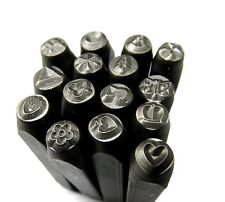 Jewelry Marking Punches Decorative Stamps Design Motif Patterns Art 15 Stamps