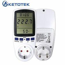 Power Energy Meter Digital Monitor Watt Analyzer LCD Display Monitor Socket NEW