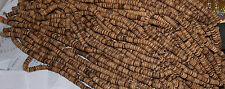 "Heishi, Coconut beads, flat round beads 9mm width 16"" strand approx 120 beads"
