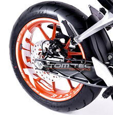 Sticker jante KTM DUKE RC 125 200 250 390 Rim autocollants vers.4