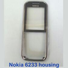 100% Genuine Nokia 6233 Front Fascia Housing with screen lens panel - Black