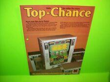 Hellomat Automaten TOP CHANCE Original Slot Machine Promo Flyer German Text Rare