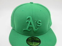 Oakland Athletics Green Retro Throwback New Era 59Fifty MLB Fitted Hat Cap 7 1/2