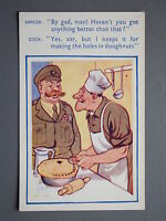 R&L Postcard: Comic, Coastal Cards, 141 H Lime, Army Cook Chef, Officer