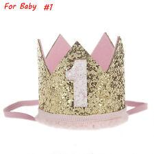 Kids Girls Baby Party Crown Headband Gold Hair Band Festival Birthday Headwear #1