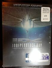 INDEPENDENCE DAY 20th Anniversary Edition Steelbook Blu-Ray BRAND NEW