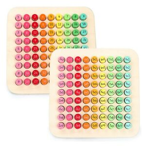 Multiplication Puzzle Board Wooden Kids Education Intelligence Math Learning SC