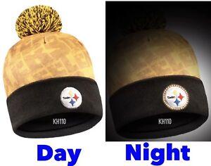 NFL Pittsburgh Steelers World Mark Light Up Printed Pom Beanie Winter