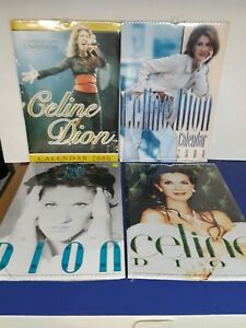 Celine Dion Collectible Calendar Lot of 4 sealed vintage 2000 and 2001