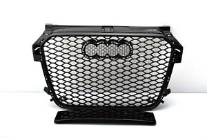 FRONT GRILL Look RS1 BLACK FOR AUDI A1 8X 2010-14 Wabengrill Grille Stoßstange /
