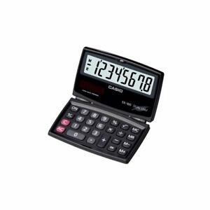 Latest Casio SX-100-W Portable Calculator - Foldable Design for back to school