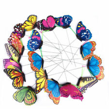 24pcs Butterfly Flower Pot Stakes Butterflies on Sticks Home Garden Yard Decors