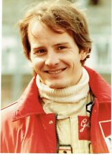 GILLES VILLENEUVE - Signed Colour head and shoulders portrait