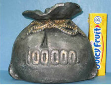 $100,000 MONEY BAG CAST IRON OLD BANK GUARANTEED OLD & AUTHENTIC * SALE *CI  625