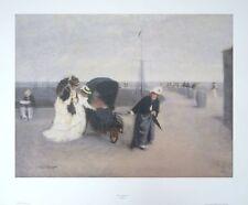 On the Promenade, John Morgan print, 61x46cm, vintage ladies print, old posters