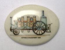 """Antique Vintage Oval Old Car Automobile AUTOBUS 1828 Disc Piece  3/4"""" x 1"""" #J148"""
