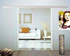 Doppel Glasschiebetür Glas Schiebetür Klarglas 2x 775 x 2050mm BC775+DPL