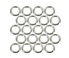 (20) Sterling Silver Plated Open Jump Rings 4mm Diameter 21 Gauge Jewelry Wire