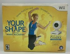 NEW Nintendo Wii YOUR SHAPE W/ Motion Tracking Camera Jenny McCarthy Rated E