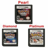 POKEMON Platinum Pearl Diamond Version Game Card for 3DS DSI NDS NDSL LITE