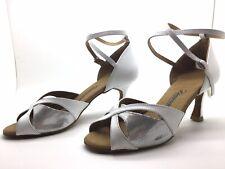 Chaussure de danse de salon pour femme:diamant couleur: blanc: 40,5