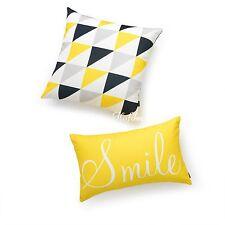Hofdeco Decorative Cushion Cover Smile Yellow Modern Triangle Geometric Sofa Car