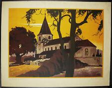 Ernest SCHMITT(1902-1977) Vue près de Molsheim 1936 Alsace Bas-Rhin Strasbourg