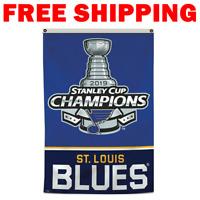 St.Louis Blues 2019 Stanley Cup Champions 3X5FT Vertical Banner Flag Man Cave