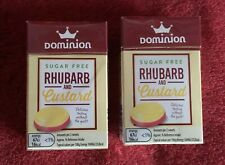 Dominion Sugar Free Sweets. Rhubarb And Custard Flavour, 44g Sealed. X 2 Boxes