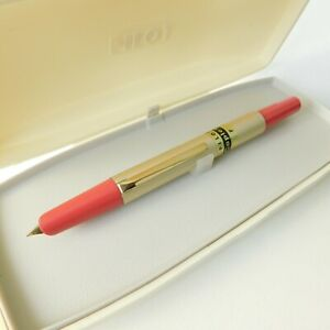 Vintage Pilot Capless Pink and Beige F Nib  Fountain pen in Box Japan 1960s