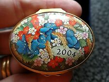 Halcyon Days Enamels A Year to Remember 2004 Boxed COA