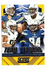 San Diego Chargers 2015 Panini Score, Team Leaders, (Gold) !! Philip Rivers !!