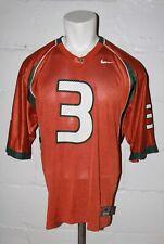 Nike Miami Hurricanes #3 Football Jersey Orange Sz M Medium NICE WOW