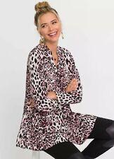 Pink Leopard print Tunic  Size 10 Bonprix Rainbow