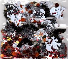 HALLOWEEN Bats Skull Crossbones Cob Webs Confetti Party Decorations Sprinkles