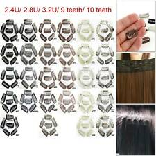 Multi-color 9/10 Teeth Snap Clips for Wig/Hair Extension Weft U-Shape