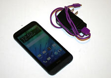 HTC Desire 510 Cricket Locked Black Smartphone with AC Power Supply Adapter-Used
