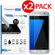 2-PACK Premium Ultra Thin Tempered Glass Screen Protector For Samsung Galaxy S7