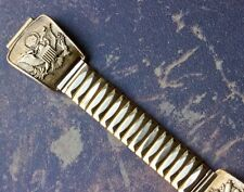 U.S. Army insignias yellow gold-plated vintage watch band to 17mm and wider lugs