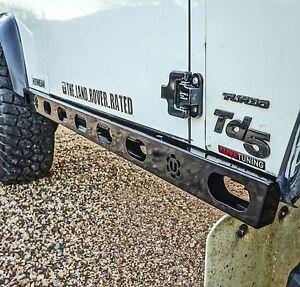 Land Rover Defender 90 Fully Stainless Steel Hurricane Rock Sliders - Uproar 4x4