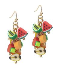 EARRINGS Tropical Fruit Mix Watermelon Pineapple  Dangle Drop Earrings