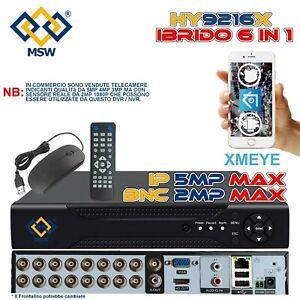 NVR 16 Canali e DVR 16 Canali XVR UTC 6 in 1 IP Onvif P2P Cloud Web Server XMEYE