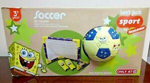 New Franklin Sports Nickelodeon SpongeBob Squarepants Soccer Ball & Goal Set