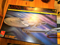 Star Tre Wrath of Khan USS Reliant AMT model kit 1/650th scale 1995 (unassembled