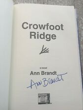 SIGNED - CROWFOOT RIDGE by Ann Brandt (1999, Hardcover)